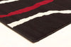 Urban Vine Rug Black Red White