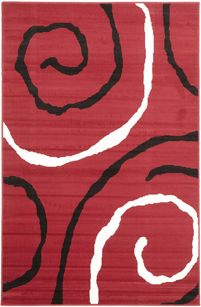 Urban Vine Rug Red Black White - Fantastic Rugs