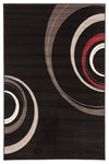 Retro Waves Rug Black - Fantastic Rugs