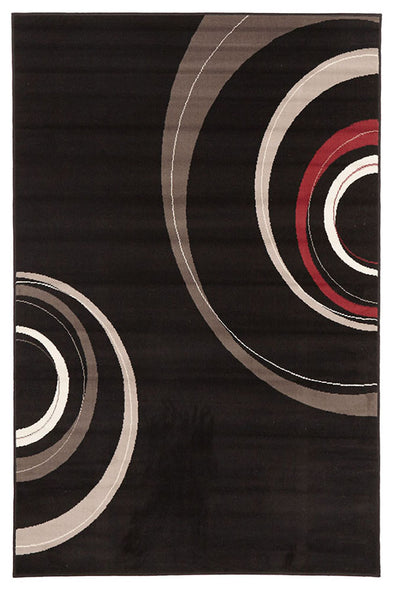 Retro Waves Rug Black