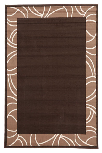 Modern Border Rug Brown - Fantastic Rugs