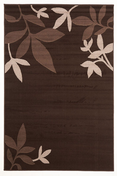 Modern Spring Leaf Rug Brown - Fantastic Rugs