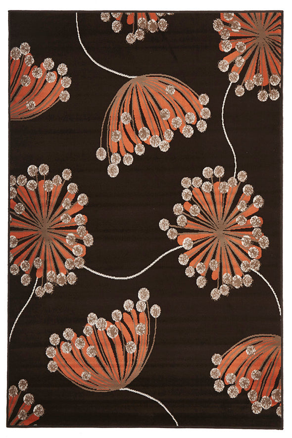 Dandelion Buds Rug Brown
