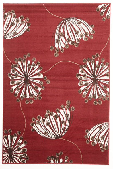 Dandelion Buds Rug Red - Fantastic Rugs
