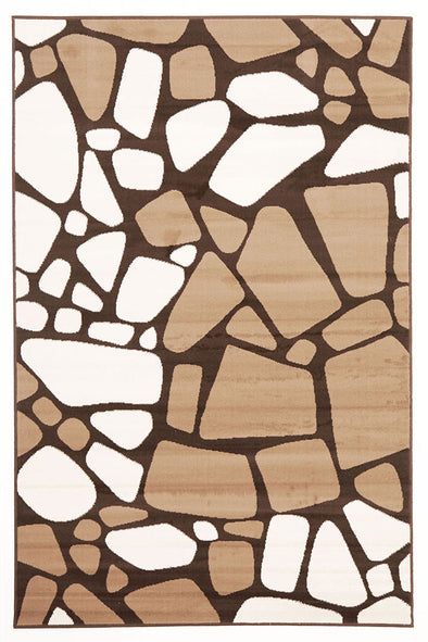 Modern Stones Design Rug Brown Beige