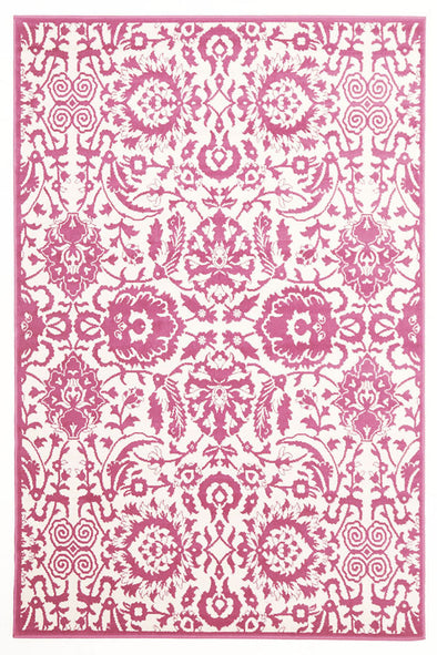 Funky Lace Design Rug Pink