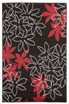 Maple Leaf Design Rug Black - Fantastic Rugs