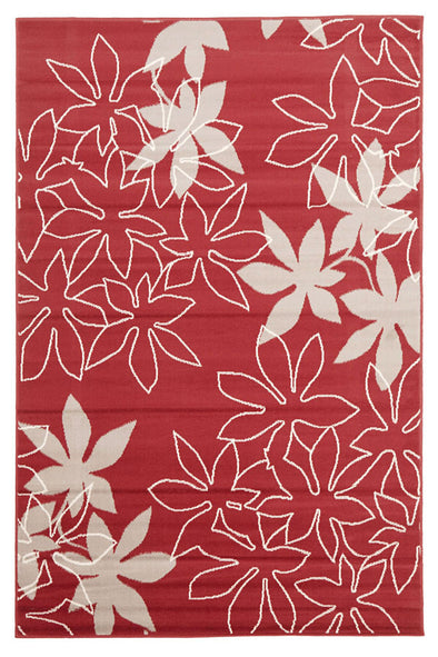 Maple Leaf Design Rug Red - Fantastic Rugs
