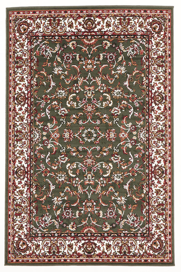 Traditional All Over Pattern Rug Green - Fantastic Rugs
