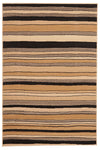 Modern Multi Stripes Rug Beige Black - Fantastic Rugs