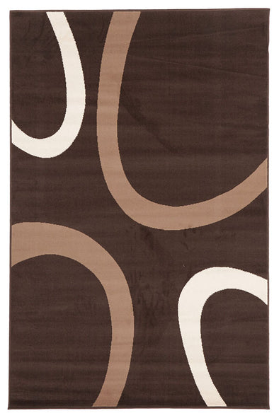 Uber Cool Cream And Brown Swish Rug