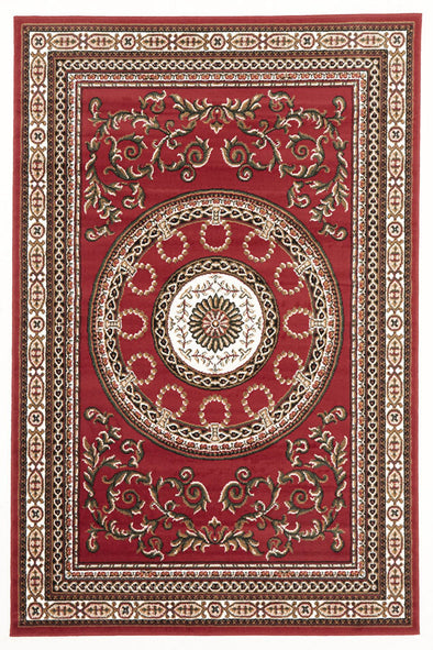 Classic Pattern Rug Red - Fantastic Rugs