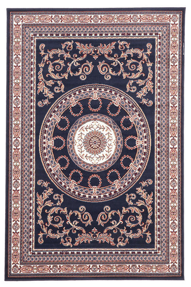 Classic Medallion Rug Navy Blue - Fantastic Rugs