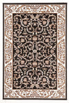 Classic Patterned Rug Black