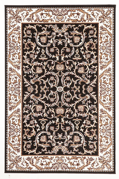 Classic Patterned Rug Black - Fantastic Rugs
