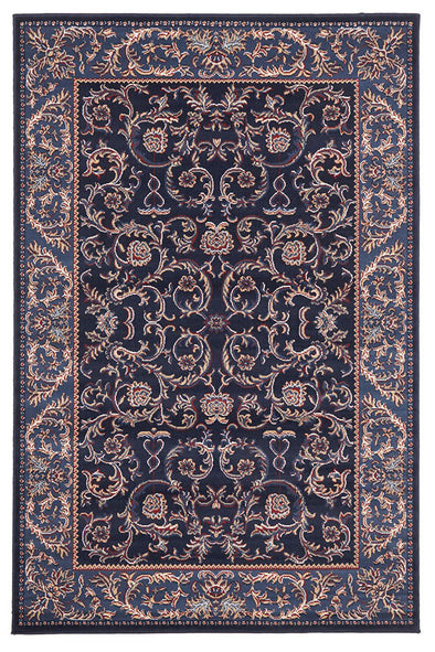 Classic Pattern Navy Blue Rug - Fantastic Rugs