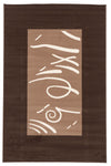 Funky Pattern Rug Brown Beige Latte