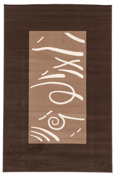 Funky Pattern Rug Brown Beige Latte - Fantastic Rugs