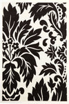 Stunning Black Off White Pattern Rug