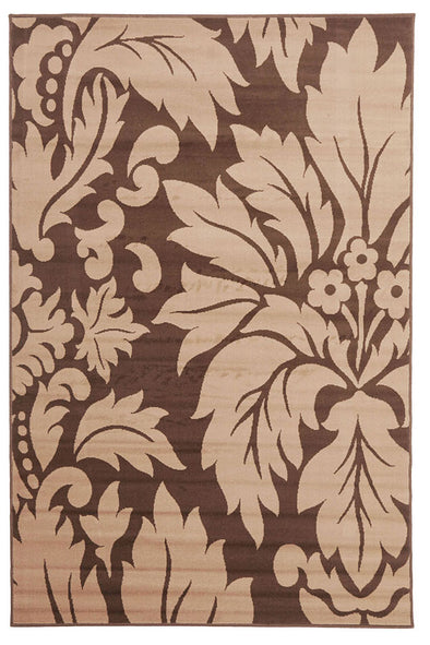 Dark Brown And Light Brown Pattern Rug - Fantastic Rugs