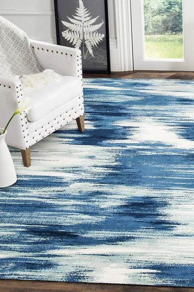 Sedrick Dreamy Modern Rug Blue Cream