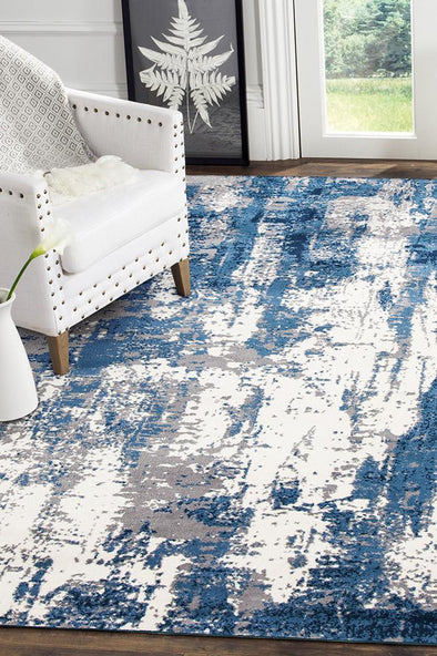 Connie Modern Rug Blue Cream