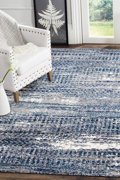 Doris Modern Rug Blue Cream