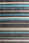 Stylish Stripe Rug Charcoal Blue - Fantastic Rugs