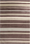 Stylish Stripe Rug Brown Beige - Fantastic Rugs