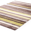 Stylish Stripe Rug Brown Green - Fantastic Rugs