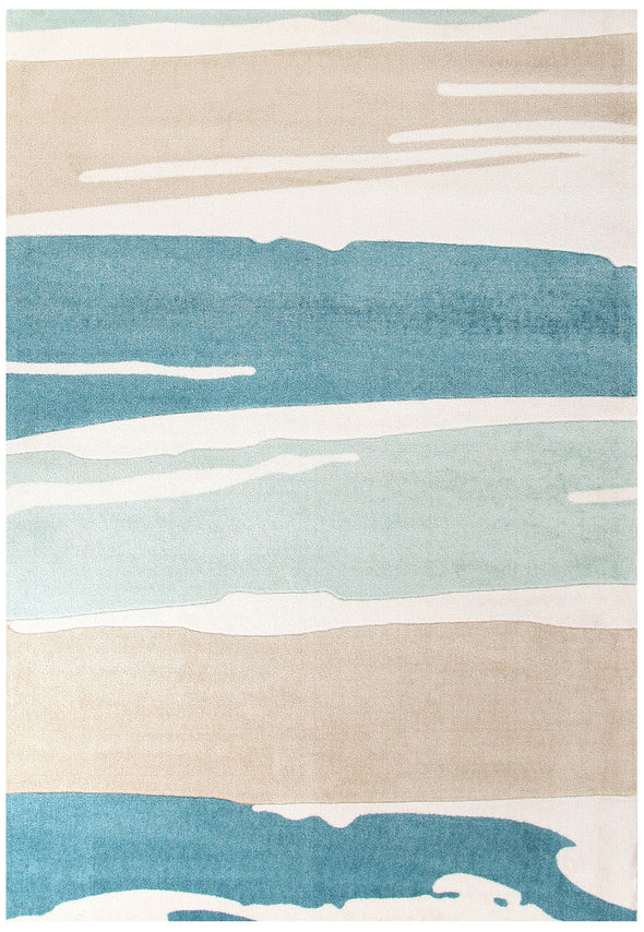 Brush Strokes Rug Blue - Fantastic Rugs