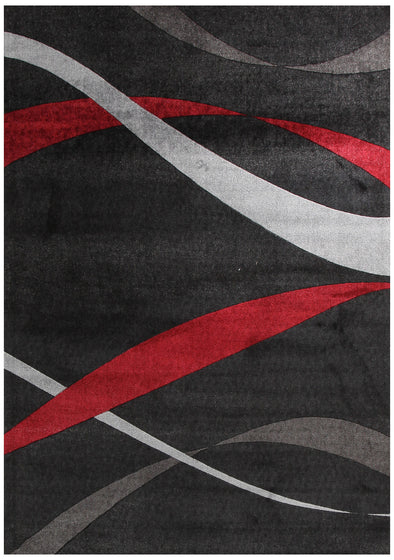 Ribbon Pattern Rug Black