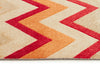 Stunning Chevron Design Rug Rust Red - Fantastic Rugs