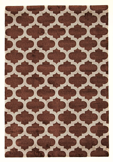 Trellis Stylish Design Rug Brown - Fantastic Rugs