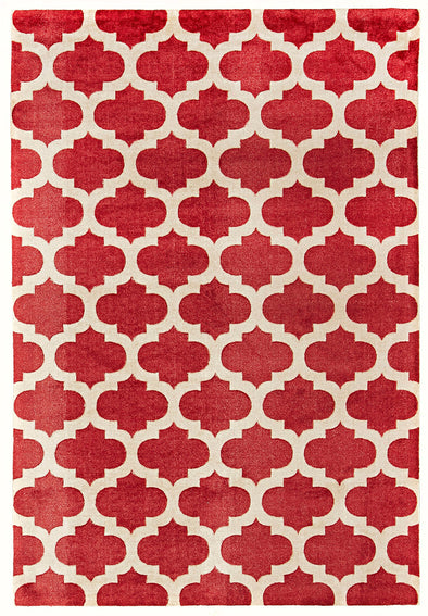 Trellis Stylish Design Rug Red - Fantastic Rugs
