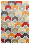 Awesome Fish Scale Design Rug Blue Red - Fantastic Rugs