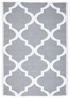 Coastal Indoor Out door Rug Trellis Grey White - Fantastic Rugs