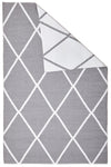 Coastal Indoor Out door Rug Diamond Grey White - Fantastic Rugs