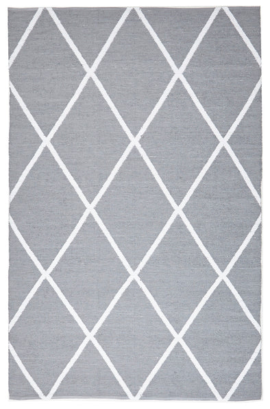 Coastal Indoor Out door Rug Diamond Grey White