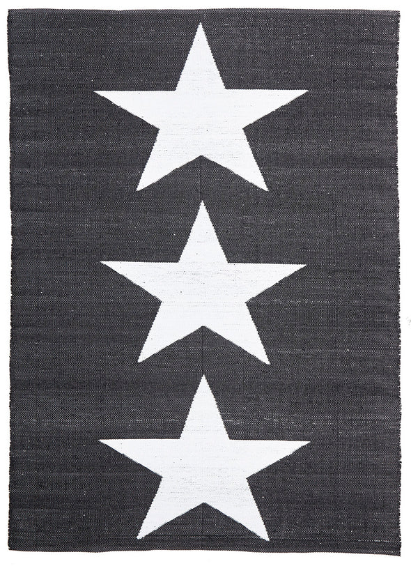 Coastal Indoor Out door Rug Star Black White - Fantastic Rugs
