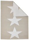 Coastal Indoor Out door Rug Star Taupe White - Fantastic Rugs