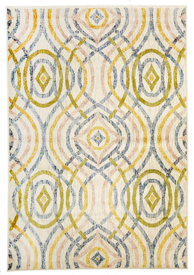 Ellis Modern Rug Cream - Fantastic Rugs
