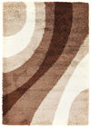 Soft Dense Retro Cream, Beige, Brown Shag Rug