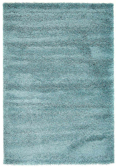 Soft Dense Plain Blue Shag Rug