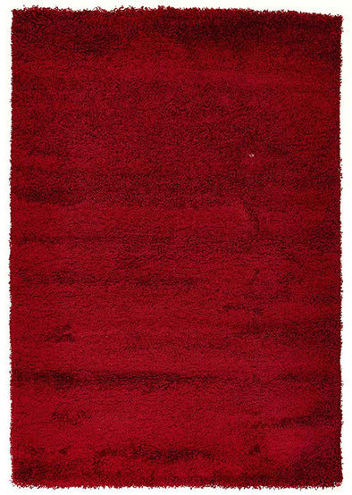 Soft Dense Plain Red Shag Rug - Fantastic Rugs