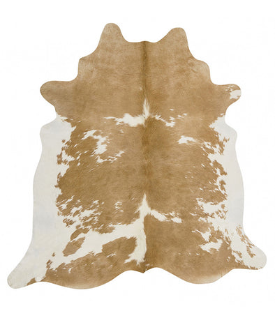 Exquisite Natural Cow Hide Beige White - Fantastic Rugs