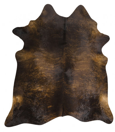 Exquisite Natural Cow Hide Dark Brindle - Fantastic Rugs