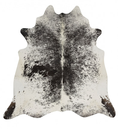 Exquisite Natural Cow Hide Salt & Pepper Black - Fantastic Rugs