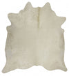 Exquisite Natural Cow Hide White