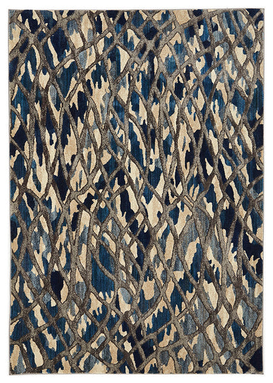 Ropes Modern Blue Rug - Fantastic Rugs